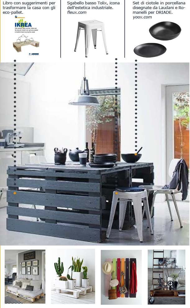 Eco pallet simple flair for Cluster arredo